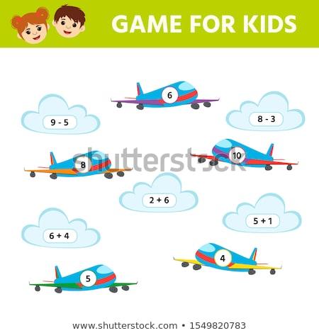迷路 飛行機 ゲーム 子供 ベクトル 太陽 ストックフォト © Natali_Brill