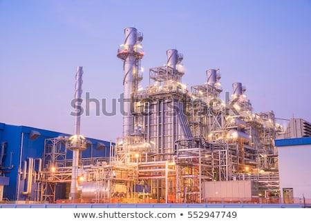 Elektromos erőmű növény elektromosság senki kémény ellátás Stock fotó © IS2