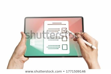 Questionnaire presse-papiers blanche Photo stock © devon