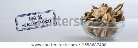 スライス キノコ 新鮮な ローズマリー 白 ストックフォト © Digifoodstock