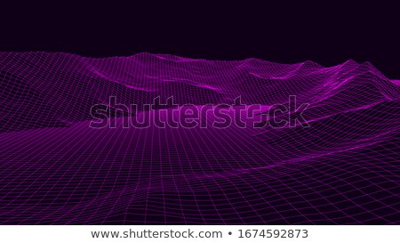 Abstract digitale panorama vettore wireframe energia Foto d'archivio © pikepicture
