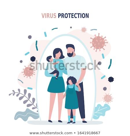 Feliz virus buena infección aislado médicos Foto stock © MaryValery