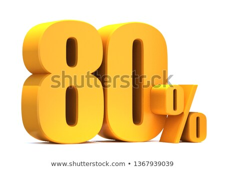 Up to 80 percent sale banner on white background Stock photo © Designer_things