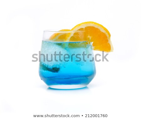 blue lagoon vodka cola with ice refreshing drinks stock photo © robuart