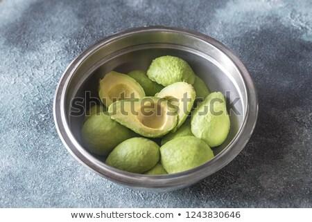 金属 ボウル 食品 クロス フルーツ 緑 ストックフォト © Alex9500