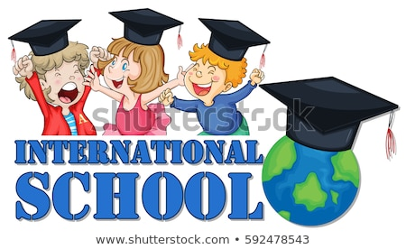 fiú · lány · érettségi · iskola · diák · oktatás - stock fotó © colematt