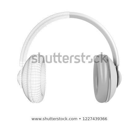 3D drótváz modell fejhallgató nagy fehér Stock fotó © magraphics