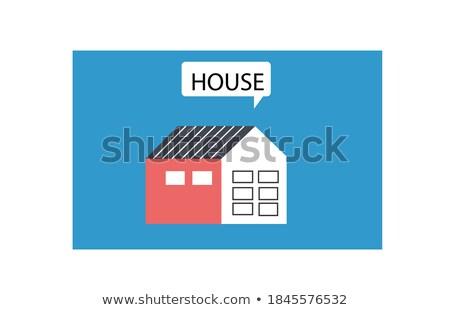 Stockfoto: Vector · gebouwen · ingesteld · ontwerp · huizen · geïsoleerd