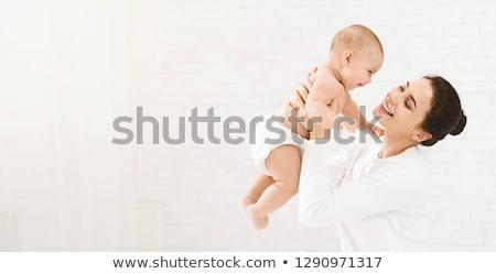 母親 赤ちゃん 子 白 ベッド 家族 ストックフォト © Lopolo