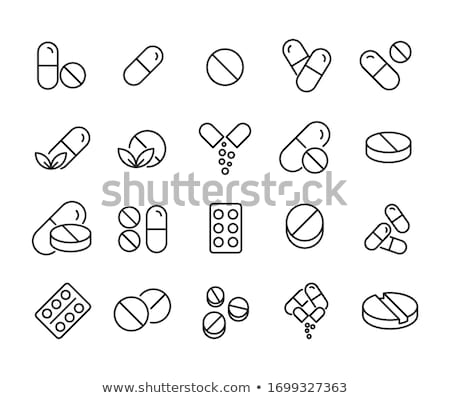 Bottles Collection and Pills Vector Illustration Stock photo © robuart