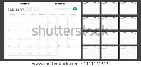 tiszta · naptár · sablon · terv · iroda · háttér - stock fotó © SArts