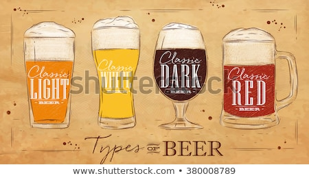 Beer Classic Beverage Type and Glass Set Vector Stock photo © robuart