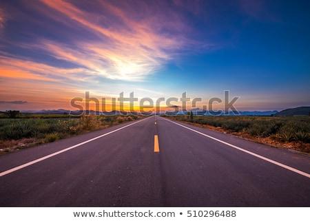 Scène lege weg zonsondergang illustratie hemel Stockfoto © colematt