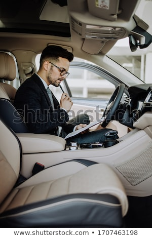 Business car seller working with the client Stock photo © Lopolo