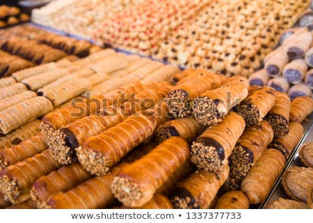 Traditional maltese cannoli on the market Stock photo © boggy