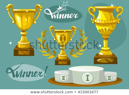 Vencedores pódio estilo projeto o melhor Foto stock © jossdiim