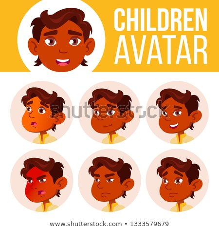 Indian jongen avatar ingesteld kid vector Stockfoto © pikepicture