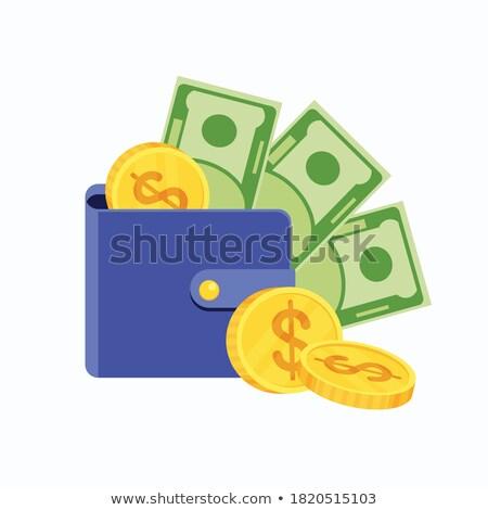 деньги иконки изолированный белый фон вектора Сток-фото © robuart