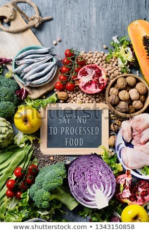 natural food and text say no to processed food Stock photo © nito
