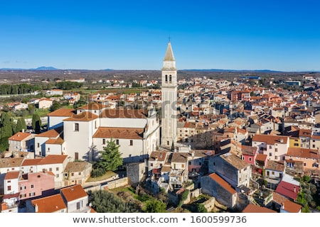 Mediterrânico pedra rua igreja ver cidade Foto stock © xbrchx