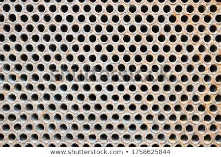 Oude roestige staal metaal plaat schoonmaken Stockfoto © simazoran