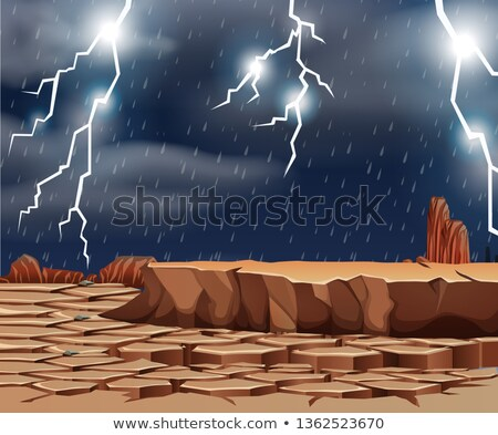 Bad weather at te dry land Stock photo © bluering