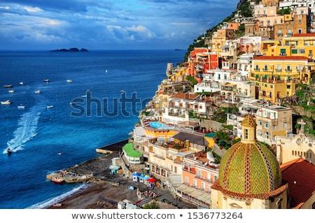 déli · Olaszország · tengerpart · égbolt · háttér · hegy - stock fotó © neirfy