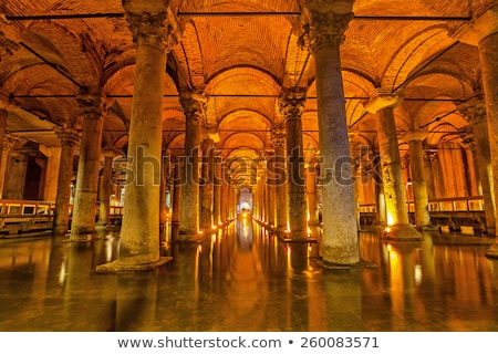 Ancient Basilica Cistern in Istanbul, Turkey Stock photo © boggy