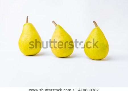 バスケット 黄色 梨 孤立した ジューシー 果物 ストックフォト © robuart