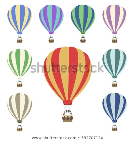 Air Tourism, Airship Balloon with Basket Vector Stock photo © robuart