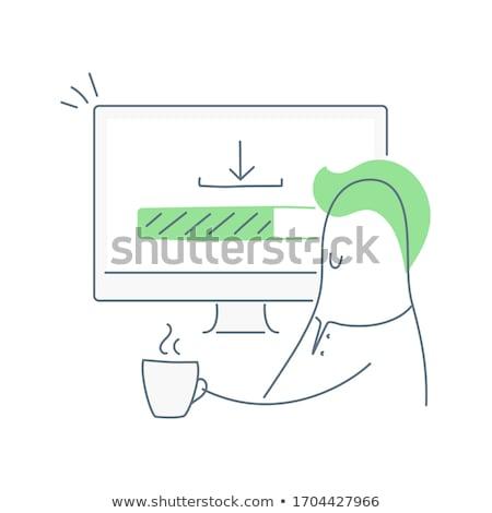 Mensen computers bars digitale composiet papier Stockfoto © wavebreak_media