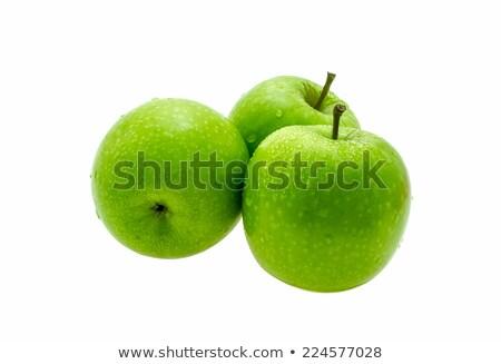 Foto stock: Frescos · manzanas · blanco · verde · dorado