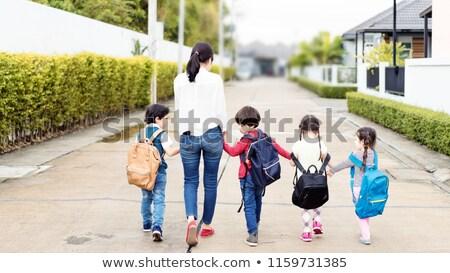 дети Плечи изучения вектора школьник Сток-фото © robuart
