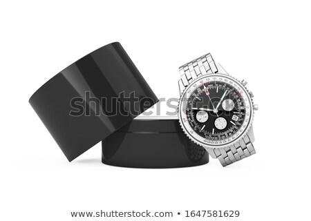 çalar · saat · beyaz · hediye · kutusu · yalıtılmış · 3d · illustration · mutlu - stok fotoğraf © ISerg