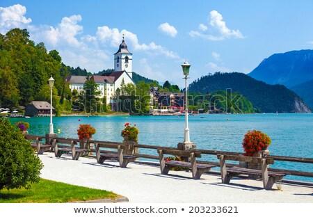 Lac Autriche paysage montagnes montagne été Photo stock © borisb17