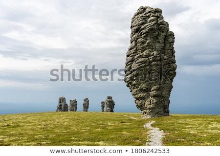 yıpranmış · kaya · yarımada · Mısır · doku · doğa - stok fotoğraf © nekiy