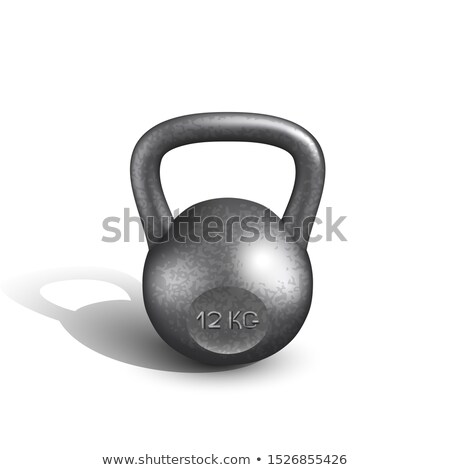 Kettlebell Sportive Heavy 12 Kg Equipment Vector Stock photo © pikepicture