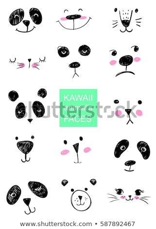 set cute animals head   idea for print t shirt stock photo © rwgusev