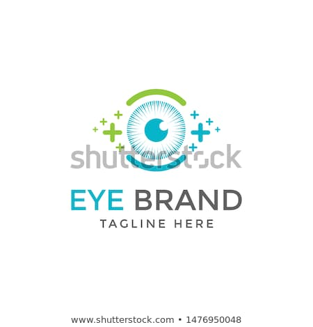 Látás logotípus szemészet címke szem vektor Stock fotó © robuart
