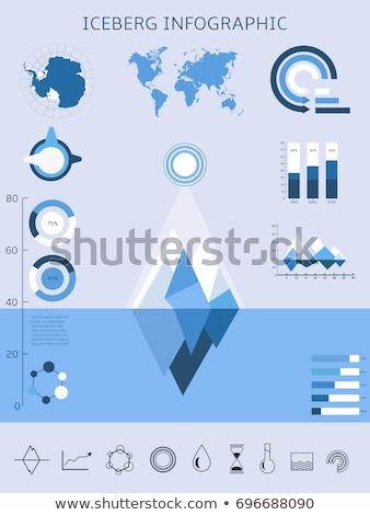 Stockfoto: Vector · info · grafiek · infographics · ijsberg · wereldkaart