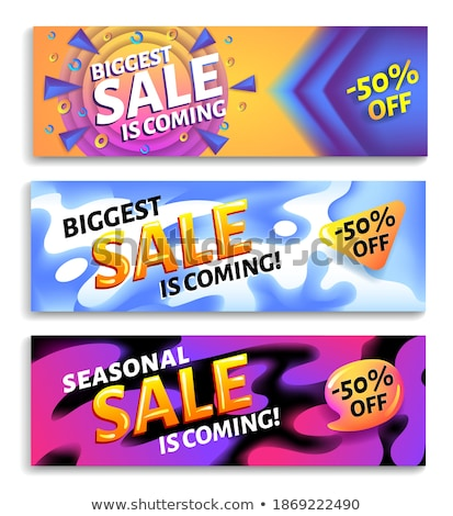 Biggest ssale is coming - horizontal advertising web banner or poster, placard template with colorfu Stock photo © MarySan