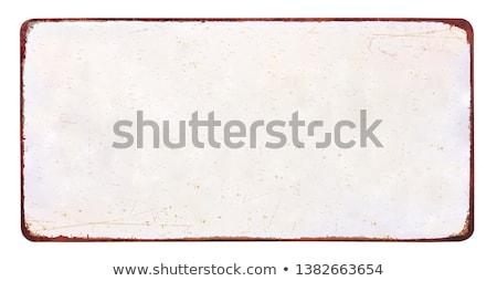 Vazio vintage estanho assinar branco projeto Foto stock © Zerbor