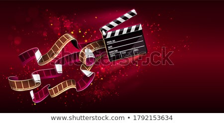 Cinema producers clapperboard for film making flying in space Stock photo © LoopAll