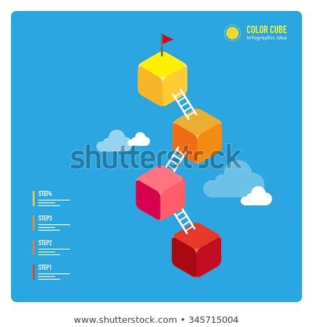 Lépés állag kéz rajz jelző átlátszó Stock fotó © ivelin