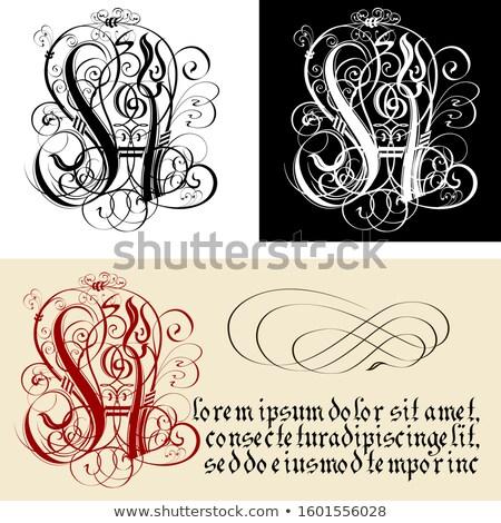 Dekoratif Gotik kaligrafi vektör eps8 Stok fotoğraf © mechanik