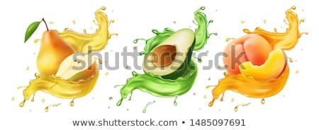 Abacate beber vidro tabela verde cal Foto stock © tycoon