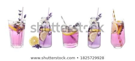 Banner lavanda limonata limone ghiaccio viola Foto d'archivio © Illia