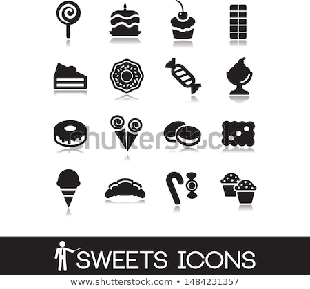 Stock photo: Set of sweets icons