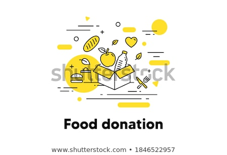 Volunteers Support Bottle Vector Thin Line Icon Stock photo © pikepicture