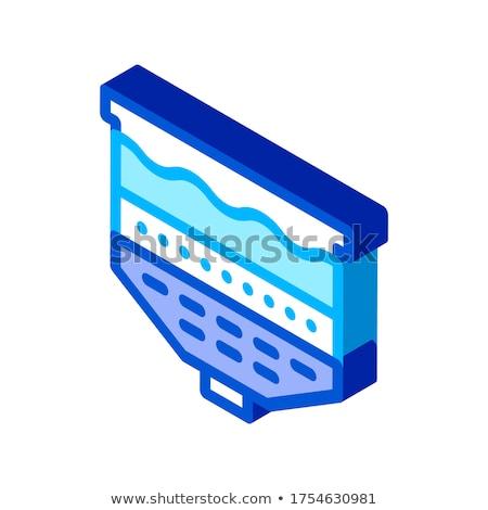 Wody leczenie wektora ikona podpisania cienki Zdjęcia stock © pikepicture